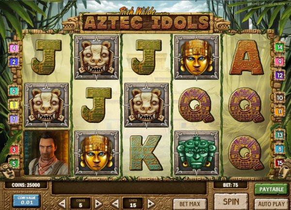 Rich Wilde And The Aztec Idols Slot Machine