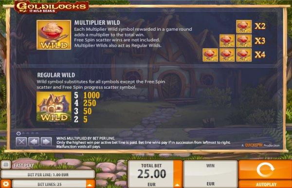 Goldilocks and the Wild Bears Slots Wilds