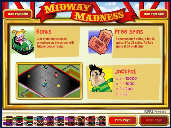 Midway Madness™ Slot Machine Game to Play Free in Rivals Online Casinos