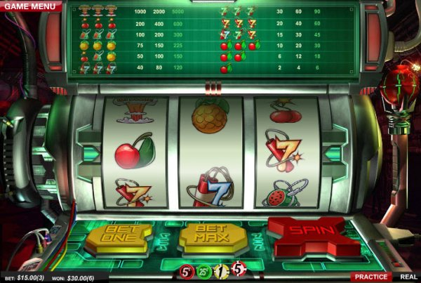 Cherry Bomb Slot Game Reels and Pay Table