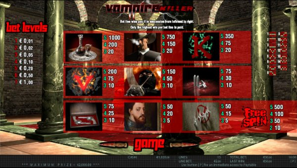 Vampire Killer Slot - Try this Online Game for Free Now
