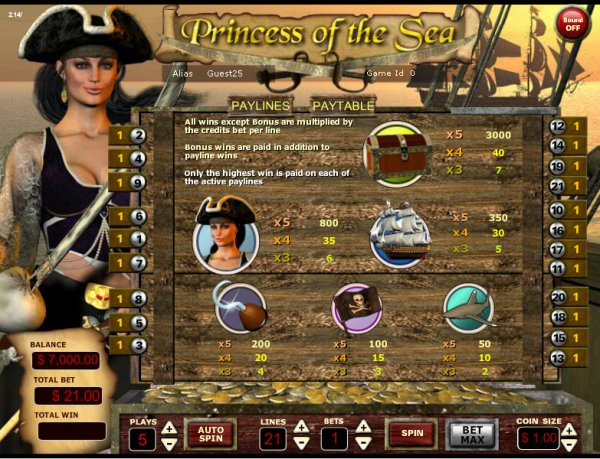 Princess Of The Sea Slot Machine Online ᐈ Vista Gaming™ Casino Slots