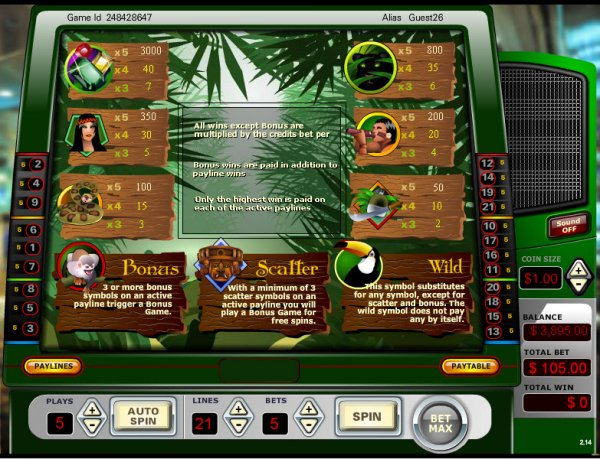 Table Slots Sword Quest Strip Blackjack Paradise