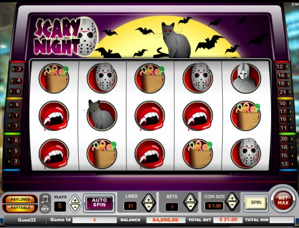 Scary Night Slots - Play Free Vista Gaming Slot Games Online