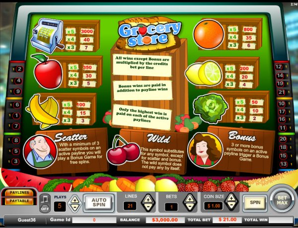 Grocery Store Slot - Play the Online Slot for Free