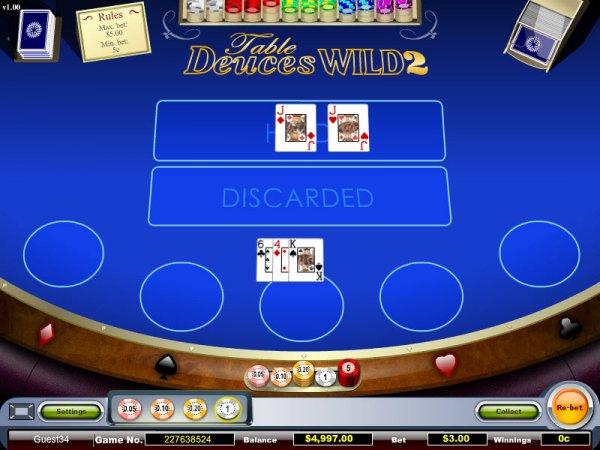 Free deuces wild draw poker