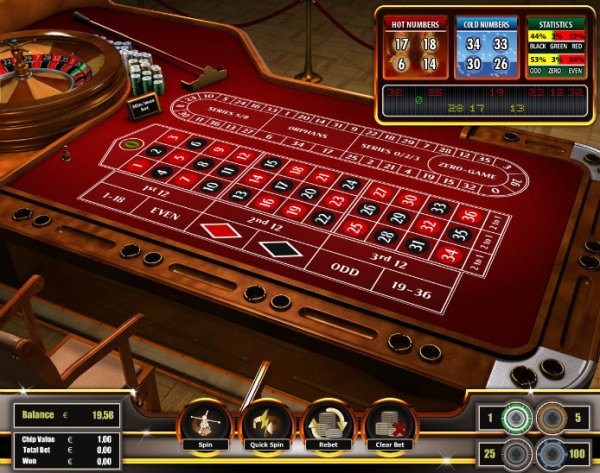 online casino games european roulette