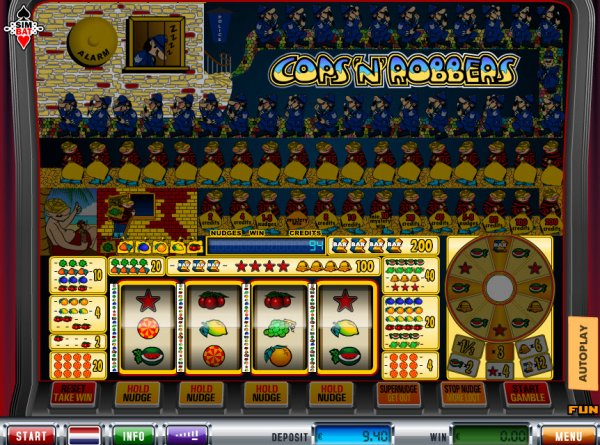 start online casino cops and robbers slot