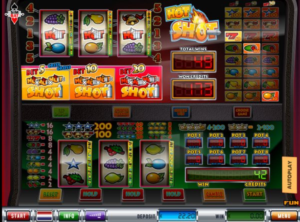 online play casino slizzing hot