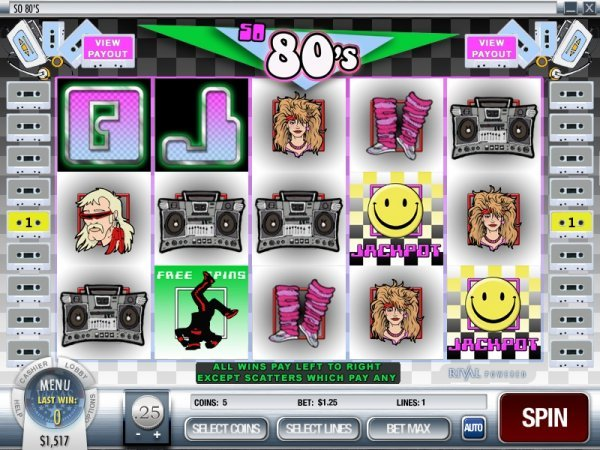 So 80s Slot - Play Rival Gaming Slots Online for Free