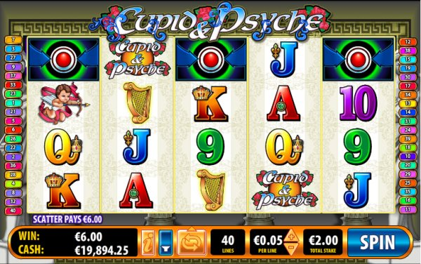 Cupid & Psyche Slot Game Reels