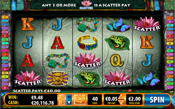 Mayan Treasures Slot Scatter Pays