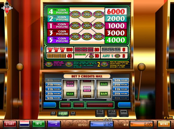Triple Diamond 5 Slot Machine Online ᐈ Simbat™ Casino Slots
