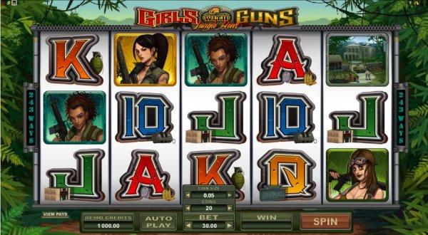 Girls with Guns - Jungle Heat Slot - MicroGaming Casinos - Rizk.de
