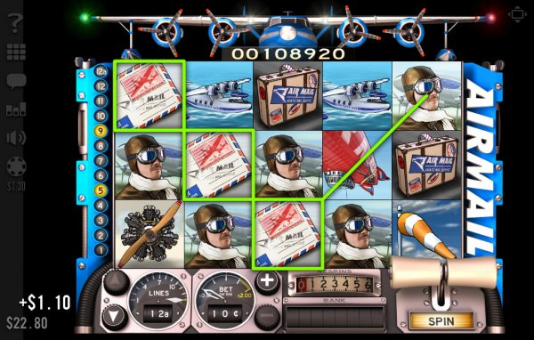 Airmail Slot Game Reels