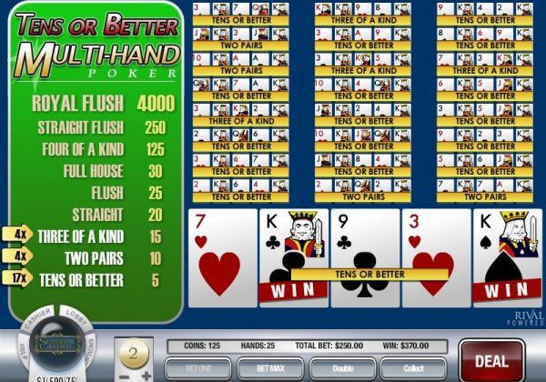 Multi Line Video Poker - Rival Style!