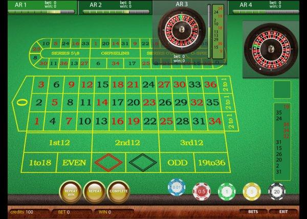 Roulette 4 Hrg 4: European 4-table Roulette
