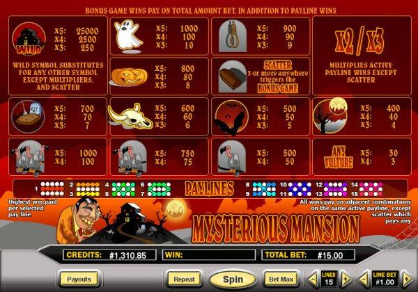 mansion online casino deluxe slot