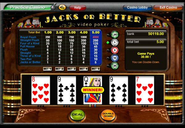double down casino jacks or better