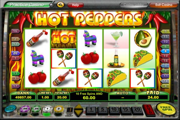 Hot Peppers Slot Game Reels