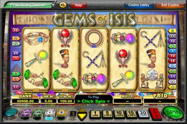 Gems of Isis Slot - Play Free Galewind Casino Games Online