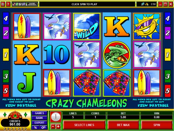 Crazy Chameleons™ Slot Machine Game to Play Free in Microgamings Online Casinos