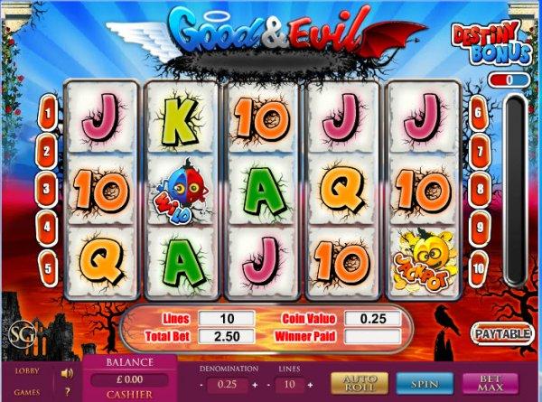 Good & Evil Slot - Free Online Casino Game by SkillOnNet