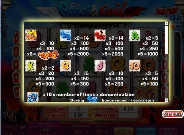 Good & Evil Slot - Free Online Casino Game by SkillOnNet