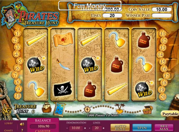 pirate treasure slots game