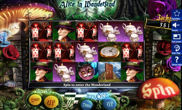 play alice in wonderland slot