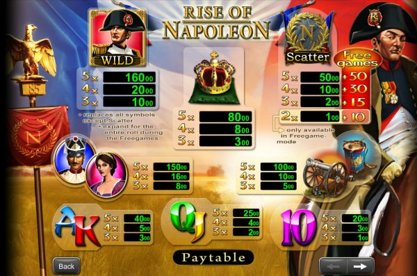 Rise of Napoleon Slots - Play Free Casino Slot Games