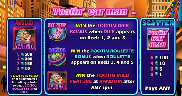 Tootin Car Man™ Slot Machine Game to Play Free in NextGen Gamings Online Casinos