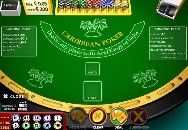 sizzling hot online casino caribbean stud