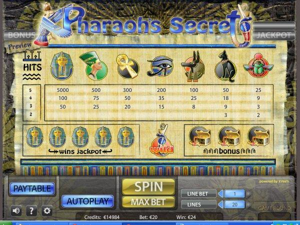 online casino table games pharaoh s