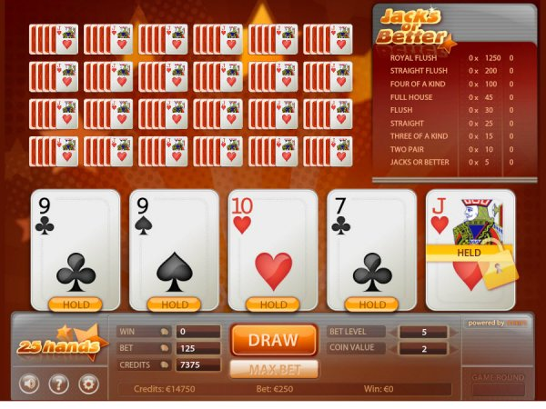Play Jacks or Better Multihand Video Poker at Casino.com Canada