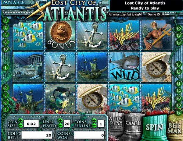 Lost city of atlantis slot game 3ds xl card slot