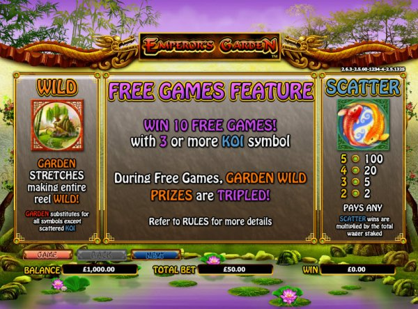 Emperor's Garden Online Slot Game – Play for Free Here Now