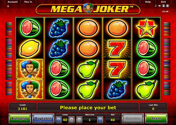 online play casino mega joker