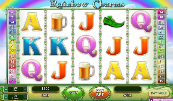 Rainbow Charms Slot Game Reels