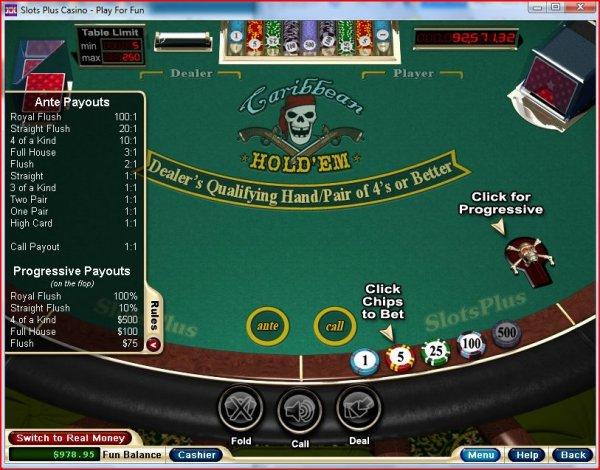Caribbean Hold'em Poker – Play Caribbean Hold'em Online