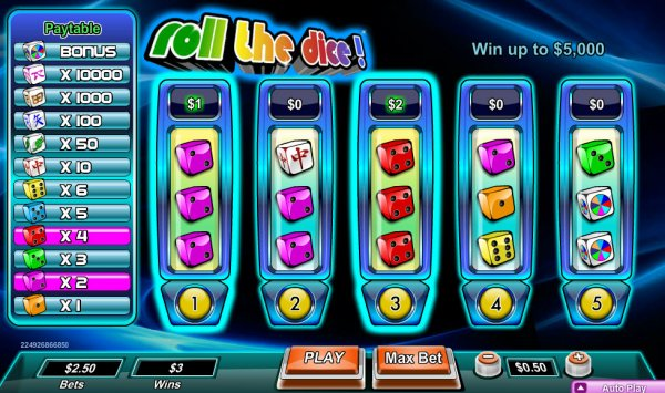 online casino software dice and roll