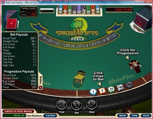 sands online casino caribbean stud