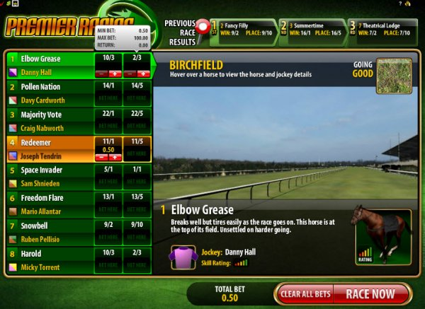 Play Virtual Horses at Casino.com UK