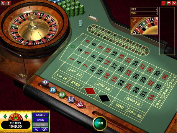 Screenshot from Microgaming's European Roulette Gold