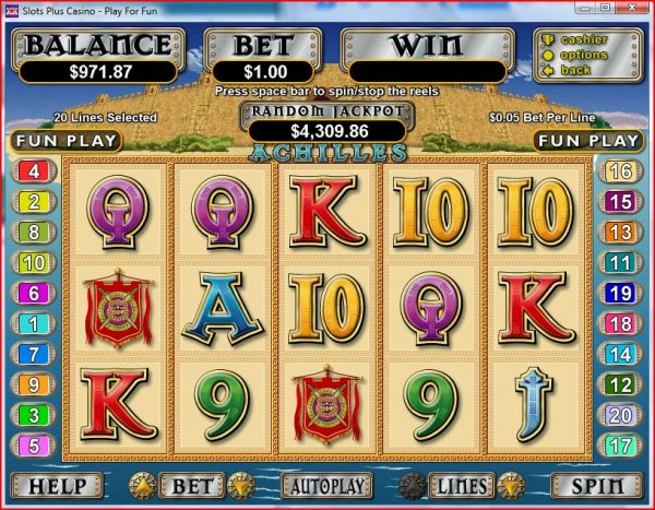 Screenshot of Achilles Slots by RealTime Gaming