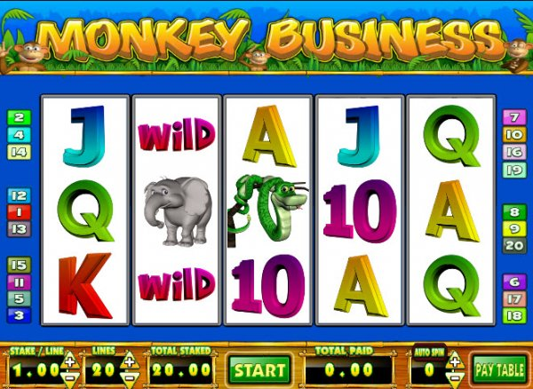 Monkey Business Slots - Play the Free Mazooma Game Online