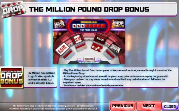 The Million Pound Drop Online Slot - Try Online for Free Now