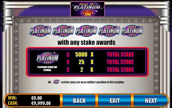 Quick Hit Slots Platinum
