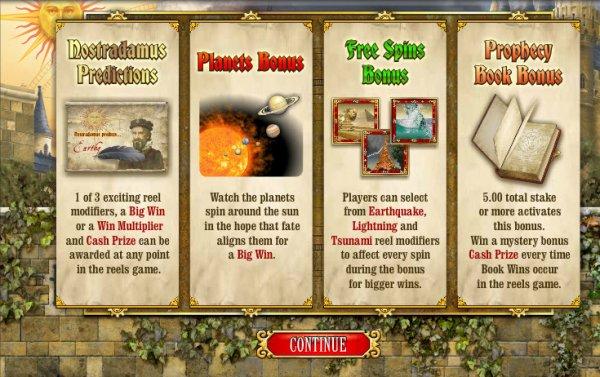 Nostradamus Prophecy - Prophetic Online Slot