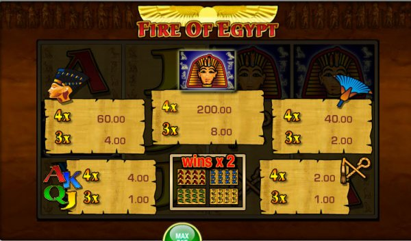Fire Of Egypt™ Slot Machine Game to Play Free in Merkurs Online Casinos